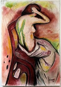 Pastel Painting On Paper By Georges Braque
