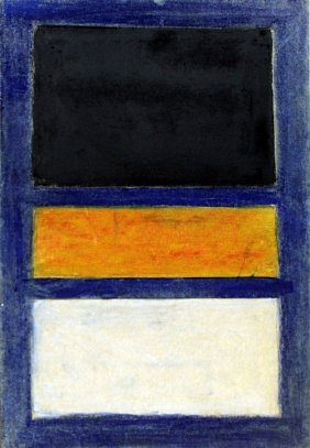 Blue, Black, And Yellow 1950' - Mark Rothko