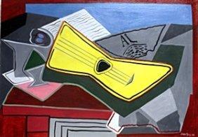 Le Guitare 1925' - Oil On Canvas - Juan Gris
