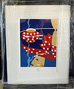 "Framed Lithograph ""reflection"" By Erte"