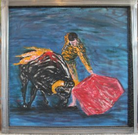 Oil Painting In Canvas By Ignacio Racerra