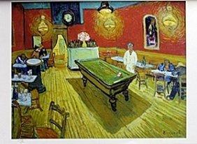 """Lithograph """"the Rec Room"""" After Vincent Van Gogh"""