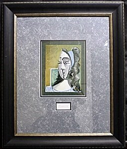 "Lithograph ""Jacqueline 1962""  by Pablo Picasso"
