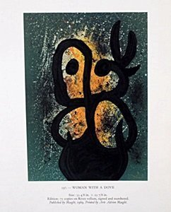 "Lithograph ""Women with Dove"" by Joan Miro"