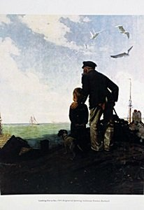 """Lithograph """"looking Out To Sea"""" By Norman Rockwell"""