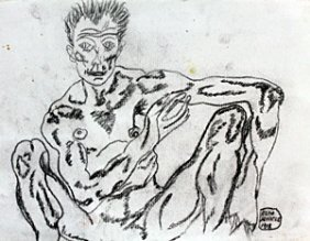 Graphite Drawing On Paper - Egon Schiele 1918