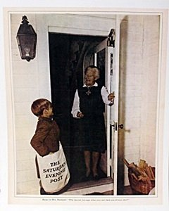 "Lithograph ""bryan To Mrs Rockwell"" By Norman Rockwell"
