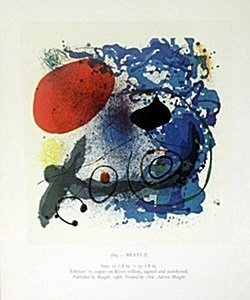 "Print ""beats"" By Joan Miro"