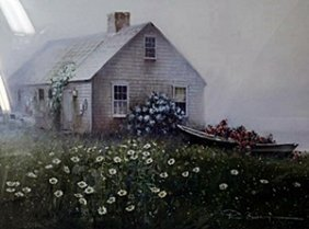 """Lithograph """"raymond's Cottage"""" After Paul Landry"""
