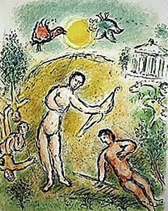"Lithograph ""ulysses And Penelope"" By Chagall From The"