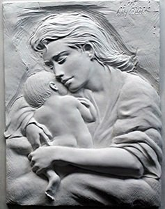 "Relief Sculptor ""caring"" After Bill Mack"