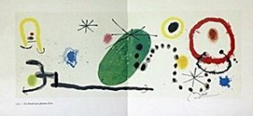 """Print """"bouquet De Reves Pour Neila"""" By Joan Miro"""