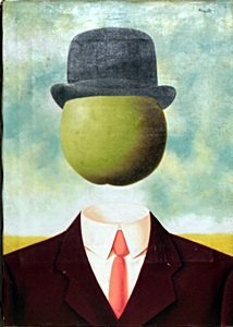 Mr Apple - Oil On Canvas - Rene Magritte