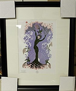 """Framed Lithograph """"the Seasons"""" By Erte"""