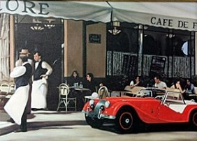 """Giclee """"the Red Car"""" After Dale Kennington"""