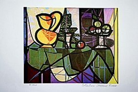 Picasso Limited Edition - Pitcher And A Bowl Of Fruit -