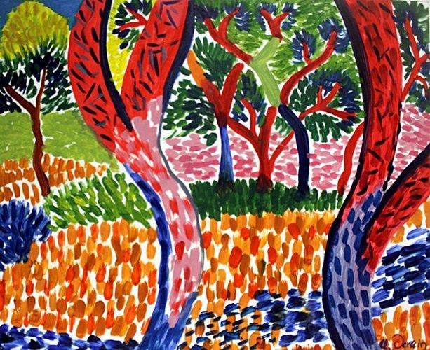 Oil on Paper  Andre Derain