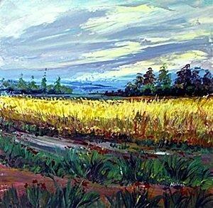 """Oil """"Landscape Scene""""   Madani"""