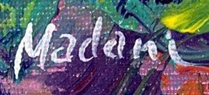 """Oil """"Landscape Scene""""   Madani - 2"""