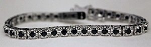 Beautiful Silver Bracelet with Sapphires
