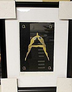 """Framed Lithograph """"The Numerals"""" by Erte"""