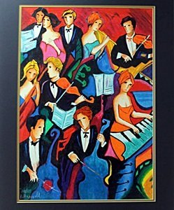 """Serigraph """"The Orchestra"""" after Philip Maxwell"""