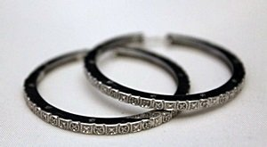Very Fancy Silver Bracelet with Diamonds