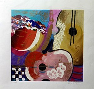 "Serigraph ""Serenade 2"" after Lee White"