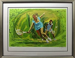 """Lithograph """"Tennis"""" after Harry B."""
