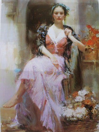 """Giclee on Paper """"Country Girl"""" after Pino (16ZI)"""