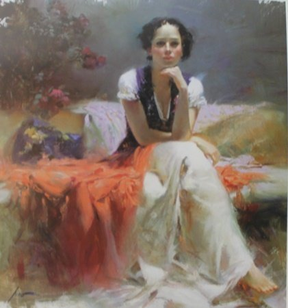 """Giclee on Paper """"First Glance"""" after Pino (22ZI)"""
