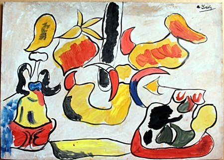 Animals  Oil Painting on Paper  Arshile Gorky