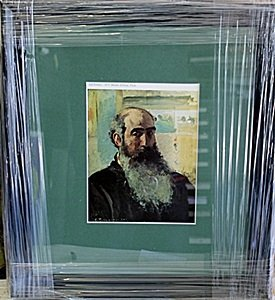 """Framed Lithograph """"Self Portrait"""" by Pissarro"""