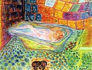 Woman in BathTub  Pierre Bonnard