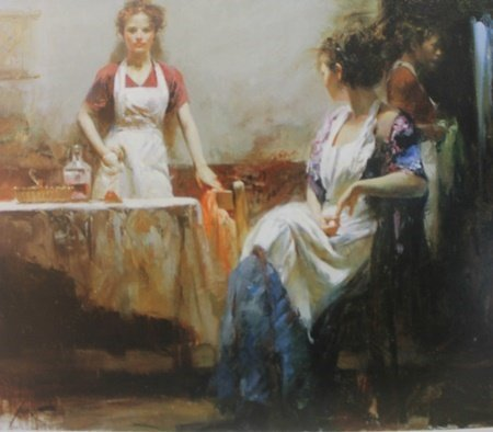 """Giclee on Paper """"The Dining Room""""  Pino (29ZI)"""
