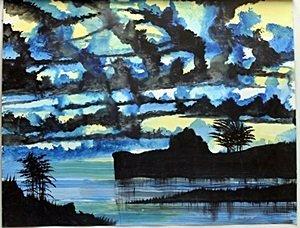 """Original """"Blue Dance"""" Oil Painting  William Verdult"""