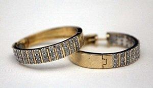 Fancy 14kt over Silver Earrings with Diamonds
