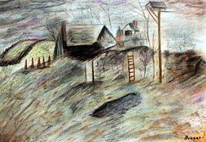 Pastel Drawing on Paper  Pierre Bonnard