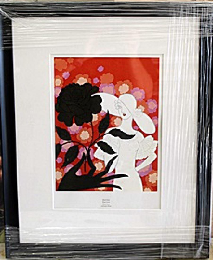 "Framed Lithograph ""The Alphabet"" by Erte"