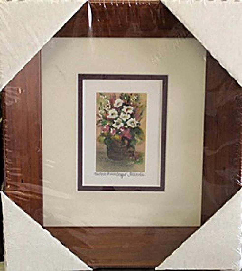 """Framed Lithograph """"Sharons Bouquet"""" by Kathleen Moraldo"""