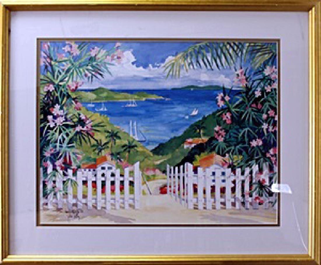 """Lithograph """"Gateway to Paradise""""  Julia Kelly"""