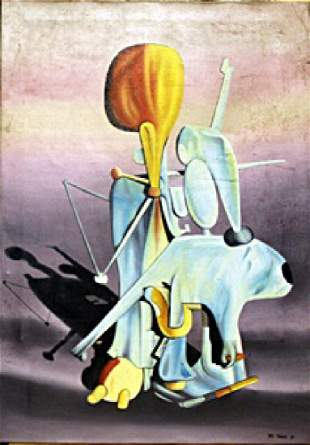 Titre Inconnu Oil Yves Tanguy