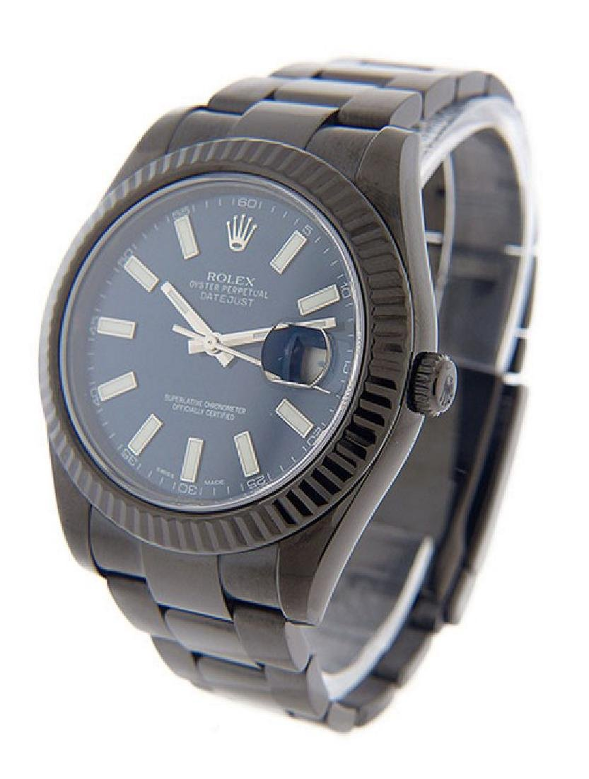 Men's DateJust II PVD/DLC Rolex Watch