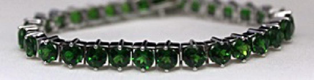 Lady's Fancy Silver Bracelet with Russian Chrome