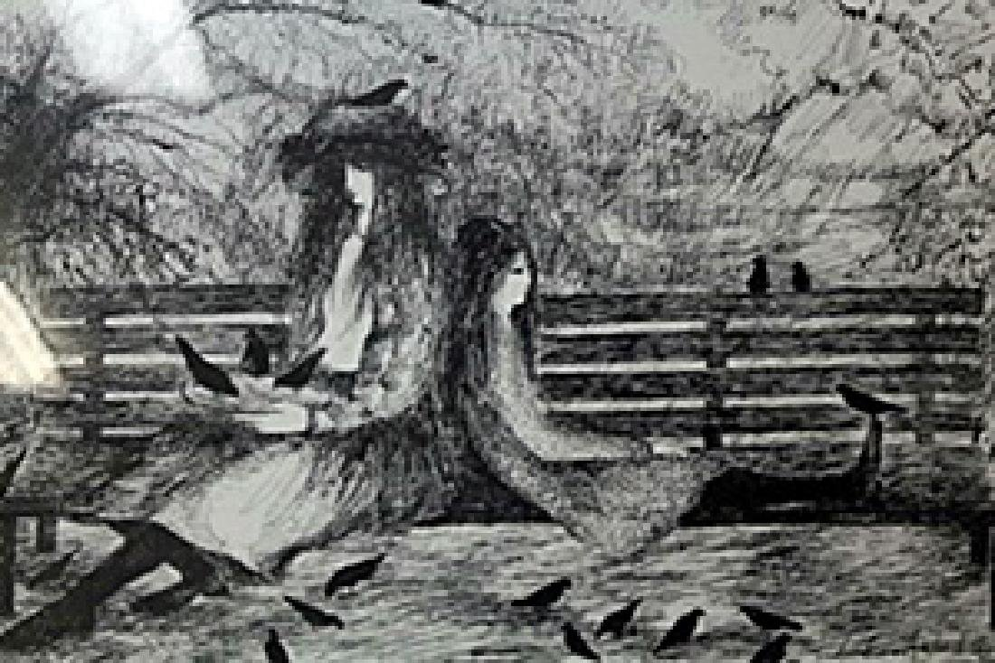Lithograph  Barbara A. Wood