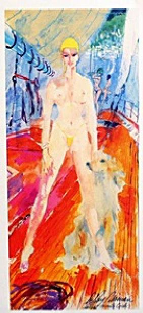Topless Woman - LeRoy Neiman