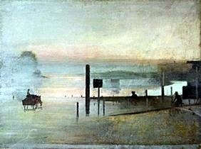 """Lithograph """"The Quiet River""""  Victor Pasmore"""