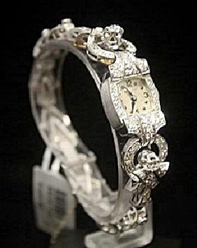 Very Fancy Antique Hamilton Diamonds Platinum Watch