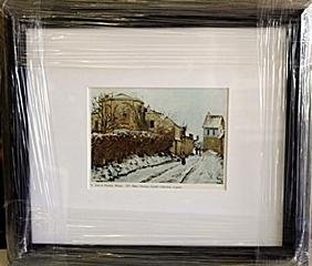 "Framed Lithograph ""Winter"" by Pissarro"