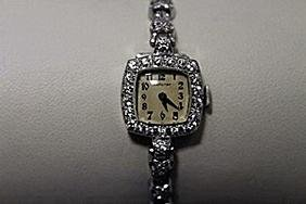 Gorgeous Antique Hamilton Diamonds Platinum Watch